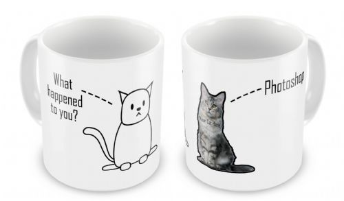 Personalised Photoshopped Cat Novelty Gift Mug